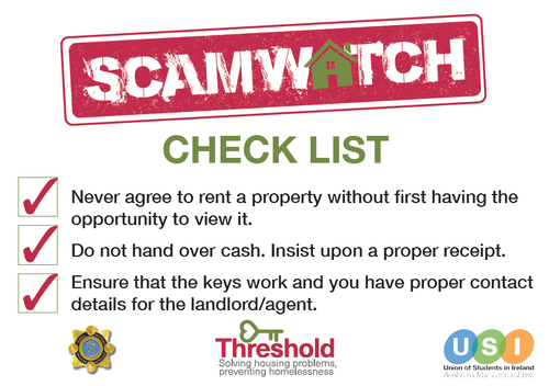Be careful of rent scams | Threshold - The National Housing